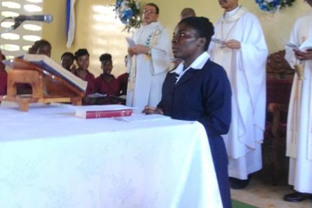 Irmã Estine Jean Charles: Primeira consagração definitiva ICM no Haiti