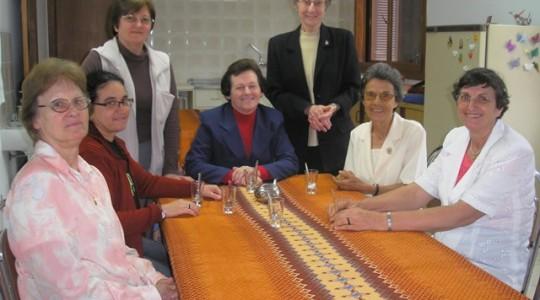 Visita das Irmãs Davina Cardoso e Adorema Dall'Ongaro à Sede Geral da Congregação