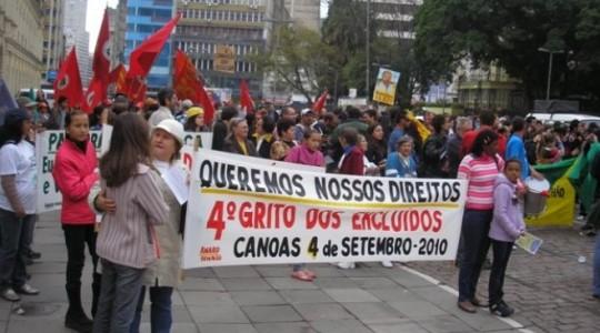 Irmãs participam do 16º Grito dos(as) Excluídos(as) 2010: Onde estão nossos direitos?