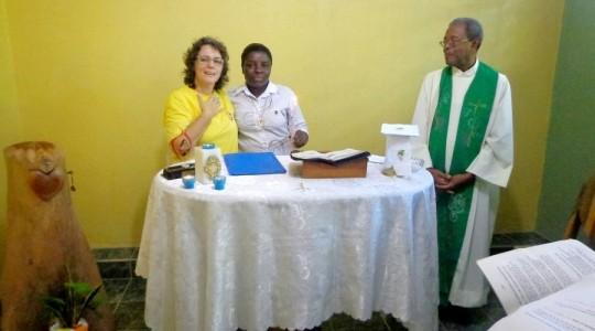 Haiti: Irmã Estine Jean Charles renova os votos como Irmã ICM