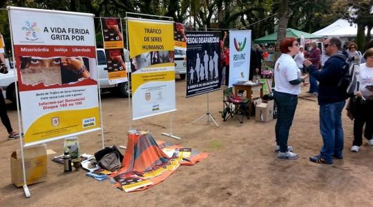 RS: Parque da Redenção recebeu campanha contra o tráfico de pessoas