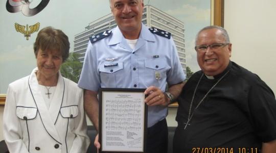 Irmã Miria Kolling é homenageada pela Força Aérea Brasileira
