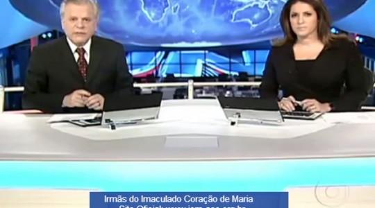 Beatificação de Bárbara Maix é destaque no Jornal Nacional da Rede Globo