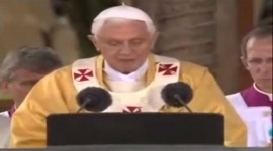 Papa Bento 16 fala sobre a beatificação de Bárbara Maix