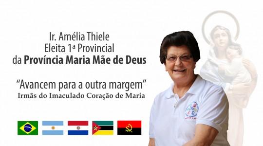 Ir. Amelia Thiele é eleita a primeira provincial da Província Maria Mãe de Deus