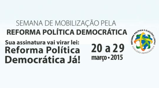 Irmãs participam  na mobilização pela Reforma Política Democrática e Eleições Limpas