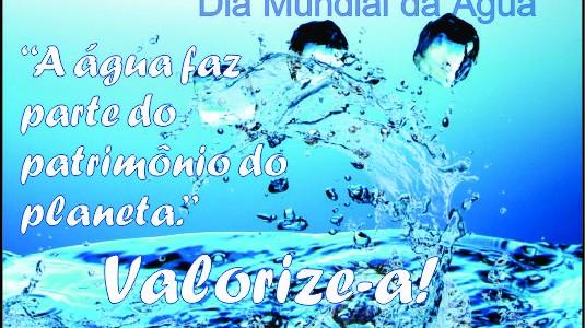 Dia 22 de março, mundial da água: É tempo de cuidar da vida!