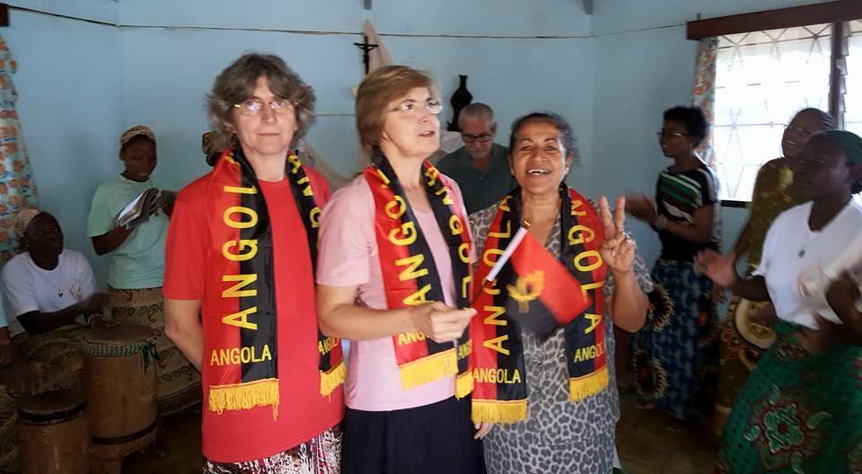 Futura comunidade de Angola com as Irmãs Leonardi, Irene e Elida
