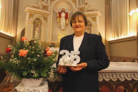 Irmã Elida Debastiane celebrou os 25 anos de Vida Religiosa Consagrada