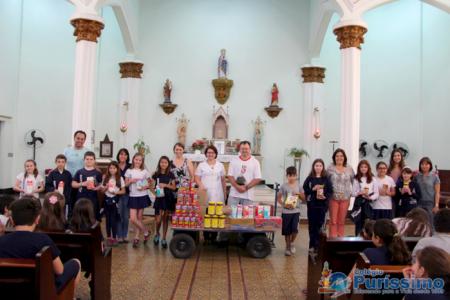 Colégio Puríssimo: Alunos arrecadam donativos para abrigo de idosos