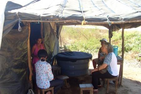 Província Guadalupe: Irmã Maria Inês visitou acampamento de famílias sem terra