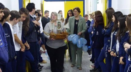 Colégio Madre Imilda acolhe o barco, símbolo do Ano Vocacional