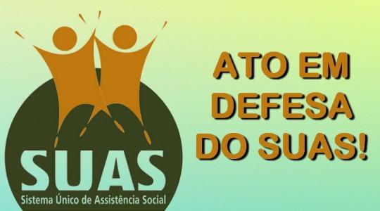 Congregação apoia ato em defesa do SUAS