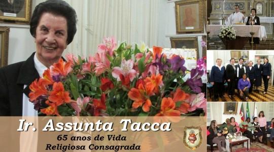 Irmã Assunta Tacca celebra 65 anos de Vida Religiosa Consagrada
