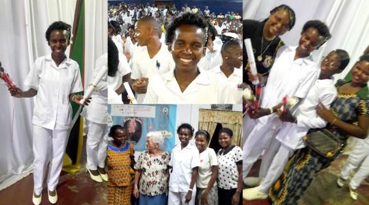 Moçambique: Irmã Esmeralda celebra formatura em Enfermagem