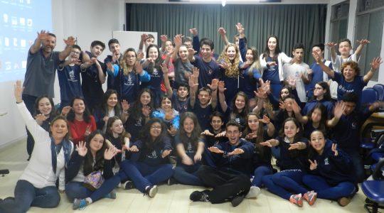 Grupo de jovens do Colégio Madre Imilda visita Santuário São Rafael e participa de integração no Colégio Mãe de Deus