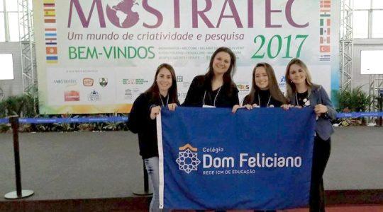 Colégio Dom Feliciano é premiado na MOSTRATEC