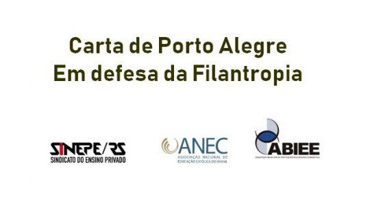 Carta de Porto Alegre - em defesa da Filantropia